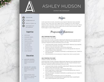 Professional Resume Template, Instant Download, Modern Resume Template, Creative Resume Template, Professional CV Template, 1, 2 & 3 Pages.