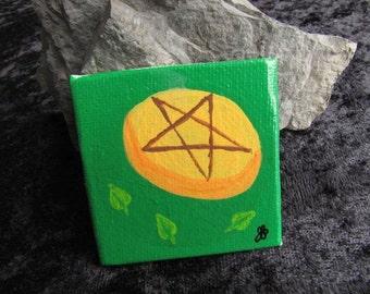 Tarot Pentacles Painting