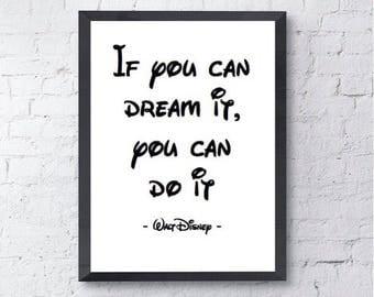 If You Can Dream It | Disney Quote | Walt Disney