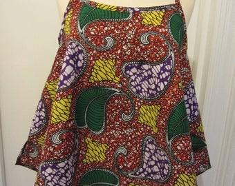 African print adjustable top