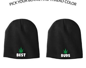 Best Buds Knit Cap, Best Buds Beanie, Beanie, Knit Cap, Best Buds, Marijuana, Toboggan, Funny Knit Cap