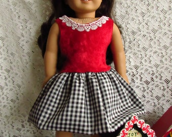 "Holiday Dress for 18"" doll"