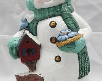 Ceramic Welcome Snowman with friends