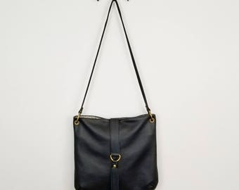 Leila Bag ~ Black Leather Bag ~ Shoulder Bag ~ Crossbody Bag ~ Ready to Ship
