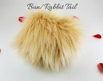 Premade Luxury Fur Honey Bun/Rabbit Tail