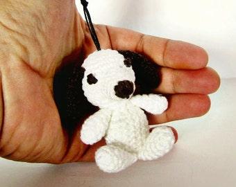 Crochet dog keychain, Dog keychain, Crochet keychain, Amigurumi dog, Miniature dog, Miniature puppy, Stuffed dog, Amigurumi keychain