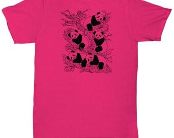 Panda Tee, Panda Tshirt, Unisex T-Shirt, Original Design Tshirt, Animal Tee, Animal Art, Cute Pandas, Womens Tees, Gift Idea, Tshirt, Shirts