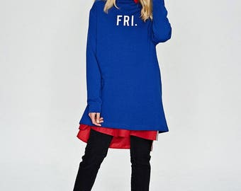 Blue friday woman long sweatshirt