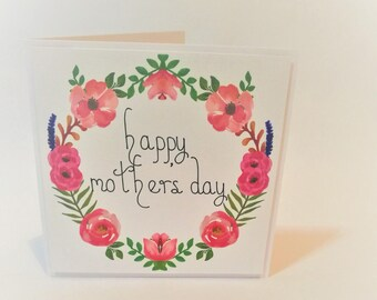 Floral Happy Mother's Day card / Mothers Day Card