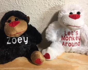 Personalized Valentine's Gorillas