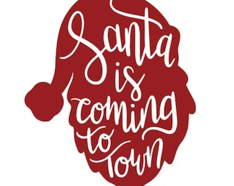 Adorable Santa is Coming to town shirts