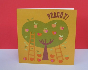 Peachy Valentines Card