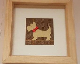 Scottie Dog Shadow Box Picture