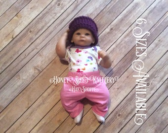 Basket Weave Hat - 6 Sizes Available; purple, amethyst, lavender   ***READY TO SHIP***