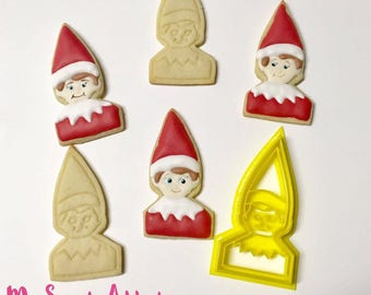 Elf on the Shelf Cookie Cutter | Christmas Cookies | Baking | Christmas Gift