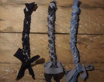 3 Upcycled Dog Tug Toys
