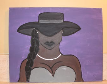 Profiles of a black woman, African American wall art painting