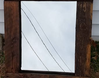 Rustic handmade mirror