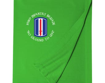 193rd Infantry Brigade Embroidered Blanket-4236