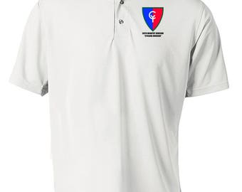 38th Infantry Division Embroidered Moisture Wick Polo Shirt -7506