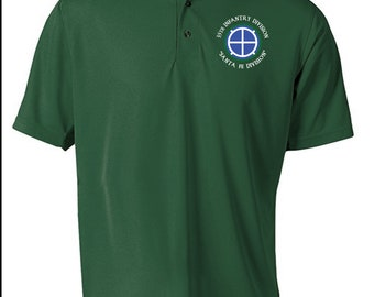 35th Infantry Division Embroidered Moisture Wick Polo Shirt -8579