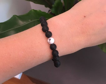 Lava Stone Bead Braclet for Aromatherapy Essential Oils