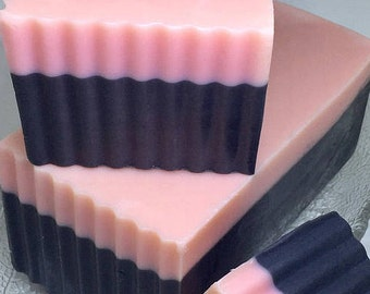 Activated Charcoal and Rose Clay Face Bar