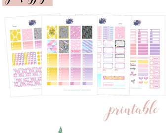 Gemstone printable weekly kit/ Erin Condren LPV/