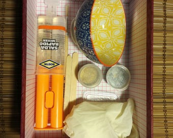 Kit for Kintsugi lovers, similar gold and silver powder, oriental ceramic