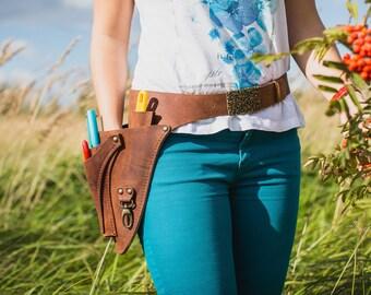 Floral Tool Belt + Knife Sheath / Tool Belt / Scissor Pocket / Farmer Florist Tool Belt / Knife Pocket / Custom Gardener's Tool Belt
