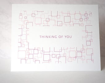 Thinking of You Retro-Inspired Greeting Card - Cube Series