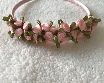 Satin Mini Rose Headband