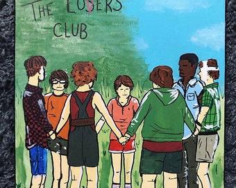 Customized Art, Handpainted Canvas, Room Decor, Wall Decor, Art Print - The Losers Club, IT Art
