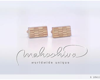 wooden cuff links wood alder maple handmade unique exclusive limited jewelry - mahoshiva k 2017-41