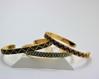 Ring with weaving beads Miyuki bracelets