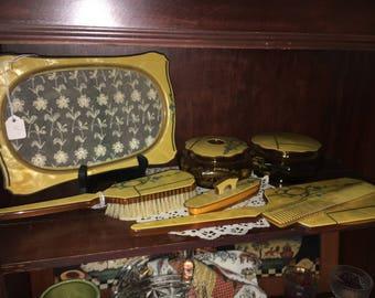 Antique Celluloid Vanity Set
