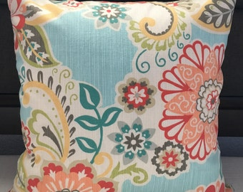 Caribbean Print Accent Pillow Cover