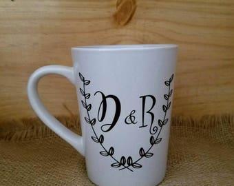 Sweetheart Initials Coffee Mug, Coffee Mug, Custom Glasses