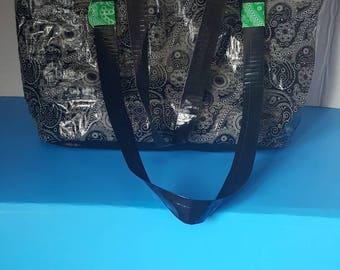 Duct Tape Women's Black Paisley  Shoulder Bag