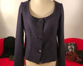 Giacca di lana viola