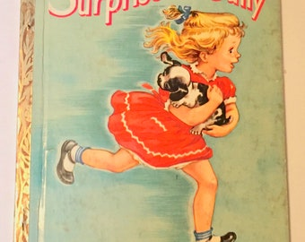 Vintage Little Golden Book No.84  Surprise for Sally  1st edition  1950