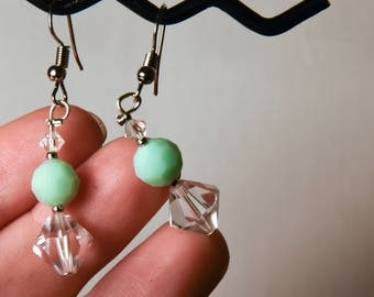 Handmade Earrings With Vintage Swarovski Beads