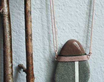 necklace, minimalist stone necklace