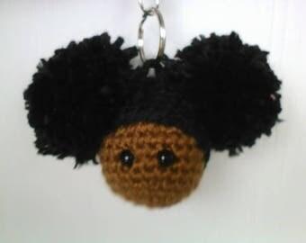 Afro Puffs Keychain / Zipper Pull