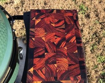 Exotic hard wood cutting board