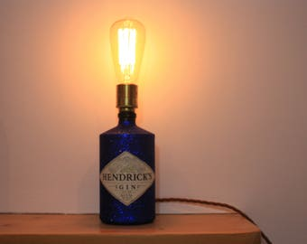 Gin bottle lamp etsy retro gin bottle table lamp mozeypictures Gallery