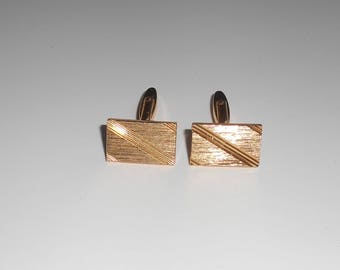French Vintage 1970's Men Cufflinks. GOLD Plated, Gift Idea.gift mens