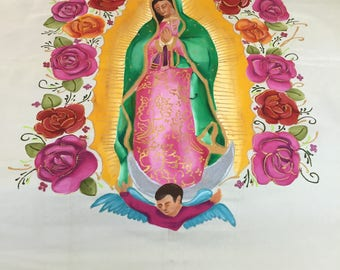 Virgin Mary with roses
