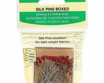 Glass Head Silk Pins