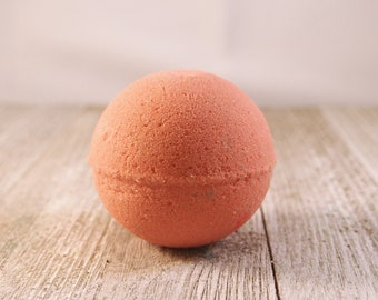 Coral Wildflower Bath Bomb, Mother's Day, Birthday Gift, Mom Gift, Bridesmaid Gift, Spa Gift for Her, Bath Fizzie, Tropical